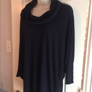 Philosophy Navy Blue Cowl neck tunic